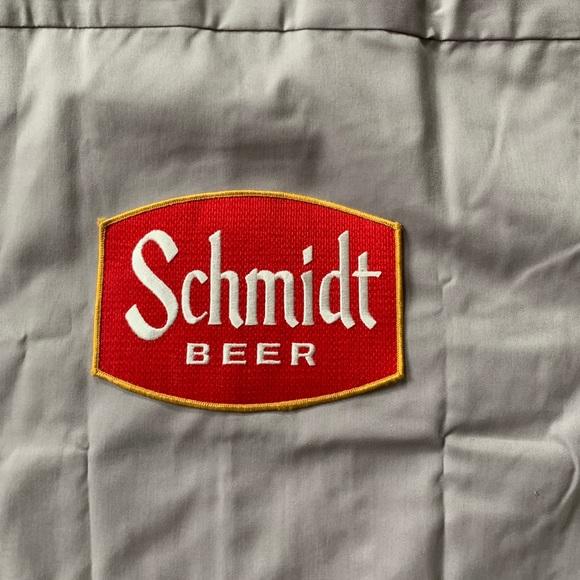 """Schmidt Beer Shirt Dickies XL """"Donald"""" name tag NWT"""